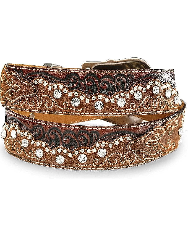 47e802dfd46265 Tony Lama Belts C50499 KAITLYN CRISTAL Ledergürtel für Damen Braun  Westerngürtel, Länge:85 (34): Amazon.de: Bekleidung