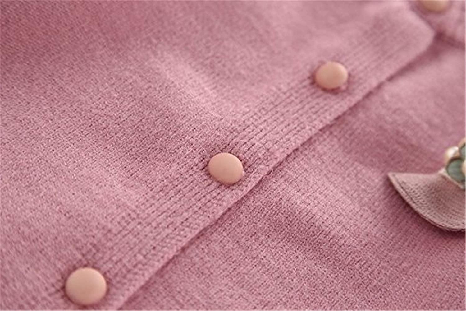 FAIRYRAIN Little Girls Kids Toddler Cashmere Cable Knit Front Button Cardigan Sweater