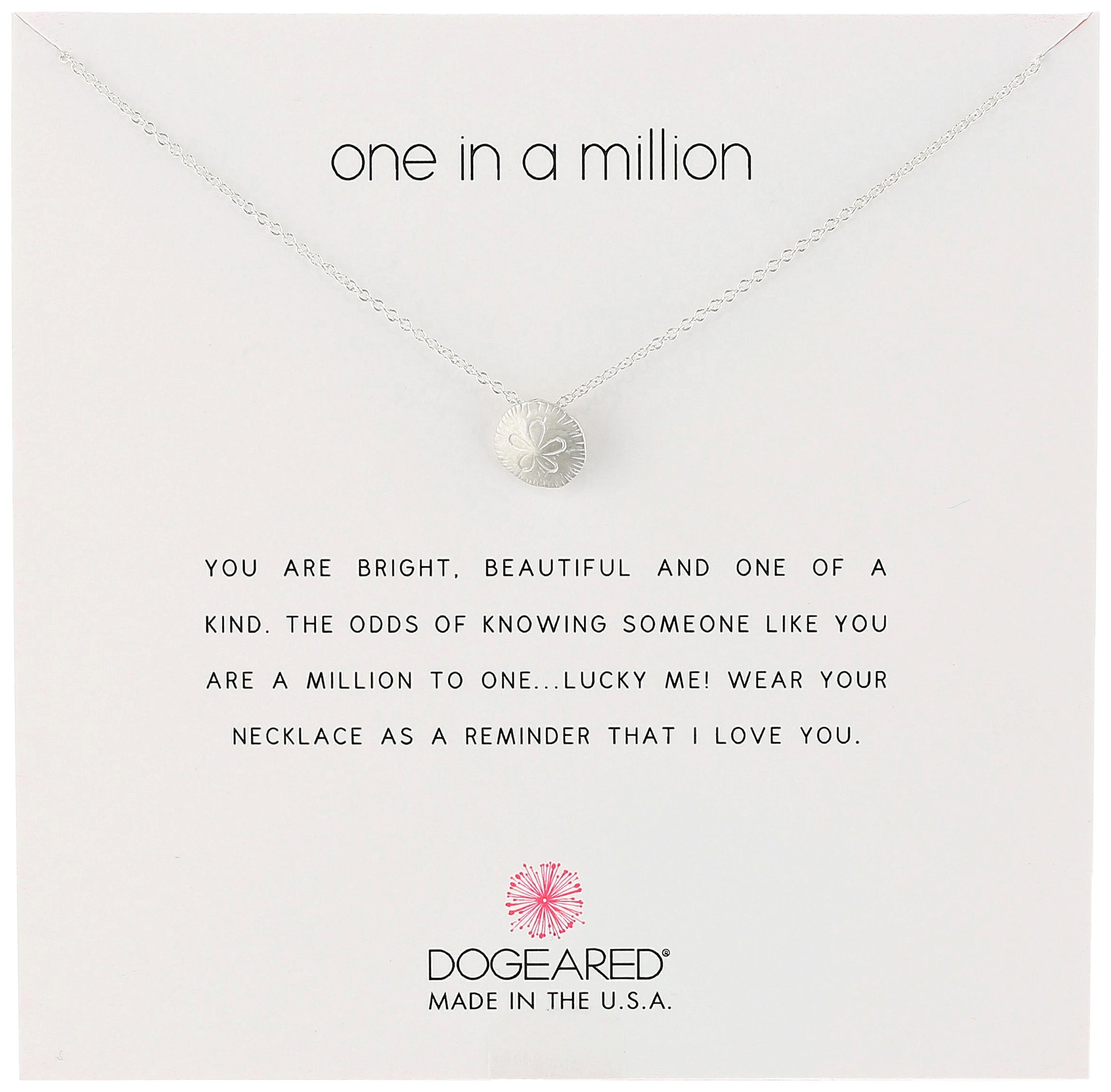 Dogeared Reminders-One in a Million Sterling Silver Sand Dollar Charm Necklace, 16'' +2'' Extender