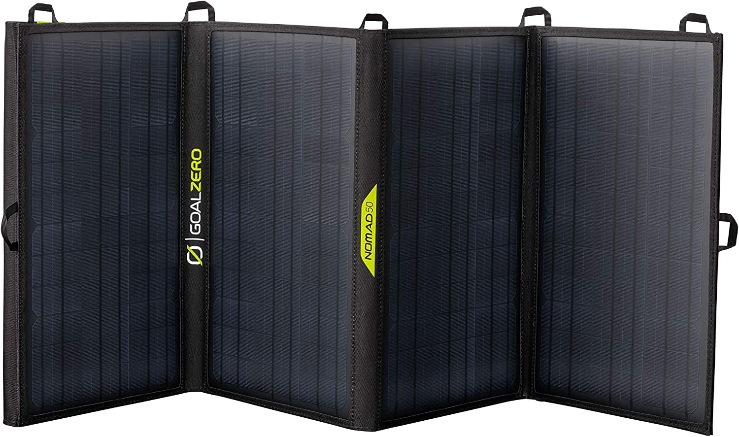 Goal Zero Nomad 50, Foldable Monocrystalline 50 Watt Solar Panel with 8mm + USB Port, Portable Solar Panel Charger for Yeti Power Generator and Banks. Lightweight 18-22V 50W Solar Panel Charger