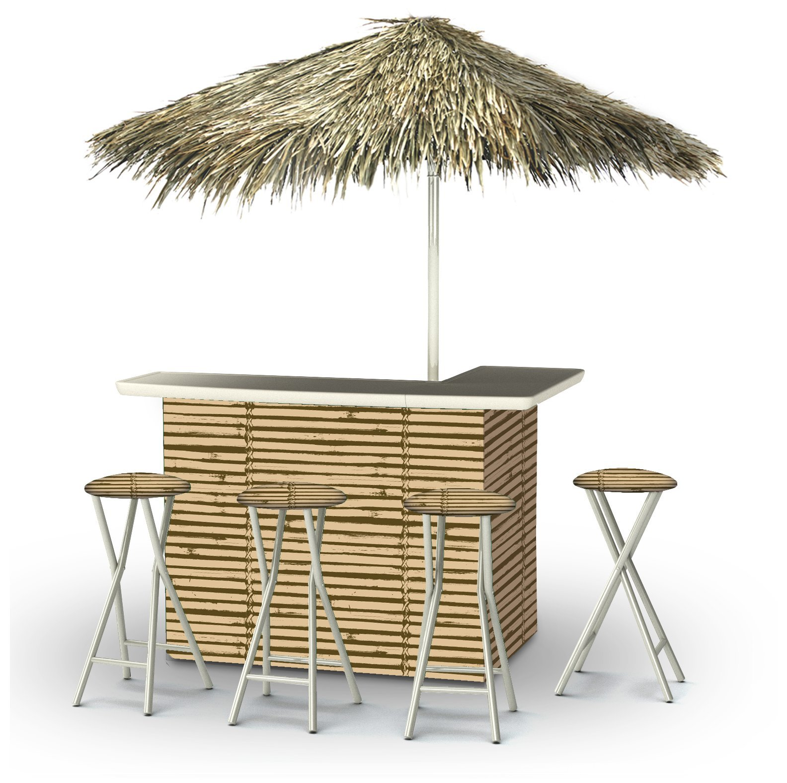 Best of Times Portable Deluxe Bar; Luau Tiki - Palapa by Best of Times, LLC