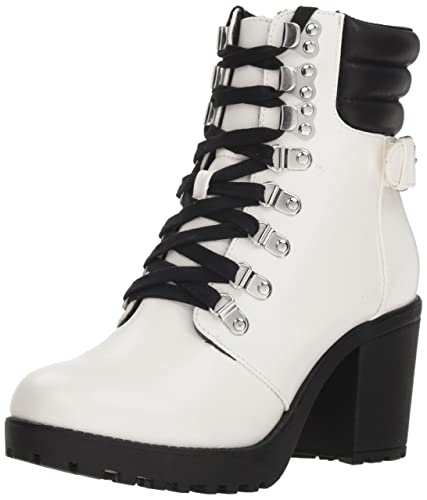 da3801ca21 MIA Women s Annamaria Ankle Boot White 6.5 Medium US