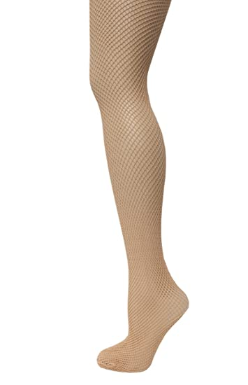 370044eacbe JAVEL Women s 1 Pack Plus Size Fishnet Tights in Beige at Amazon ...