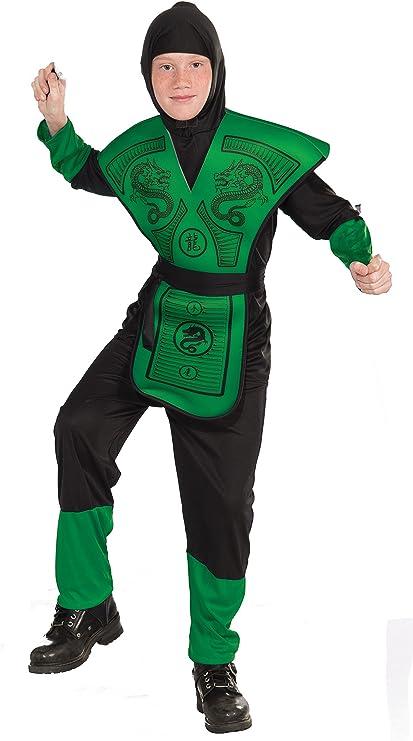 Amazon.com: Disfraz de ninja Verde, Niño grande, Niño ...