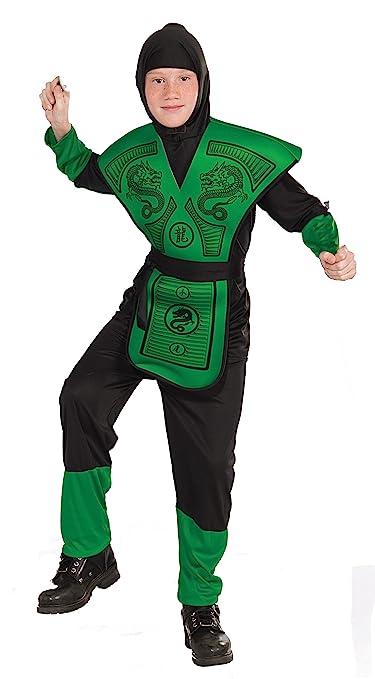 Forum Novelties Green Ninja Costume, Child Medium