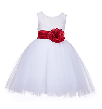 04de6f34b61 ekidsbridal White Lace Embroidery Tulle Flower Girl Dress Girl Lace Dress  118 8
