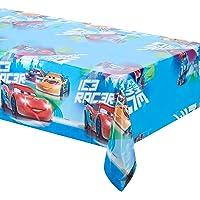 Procos-84838 Mantel de Plástico Cars Ice Racer, color azul/rojo (Ciao Srl 84838)