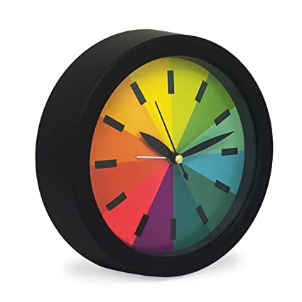 Slash moderno Creative redondo arco iris Silencioso Non ...