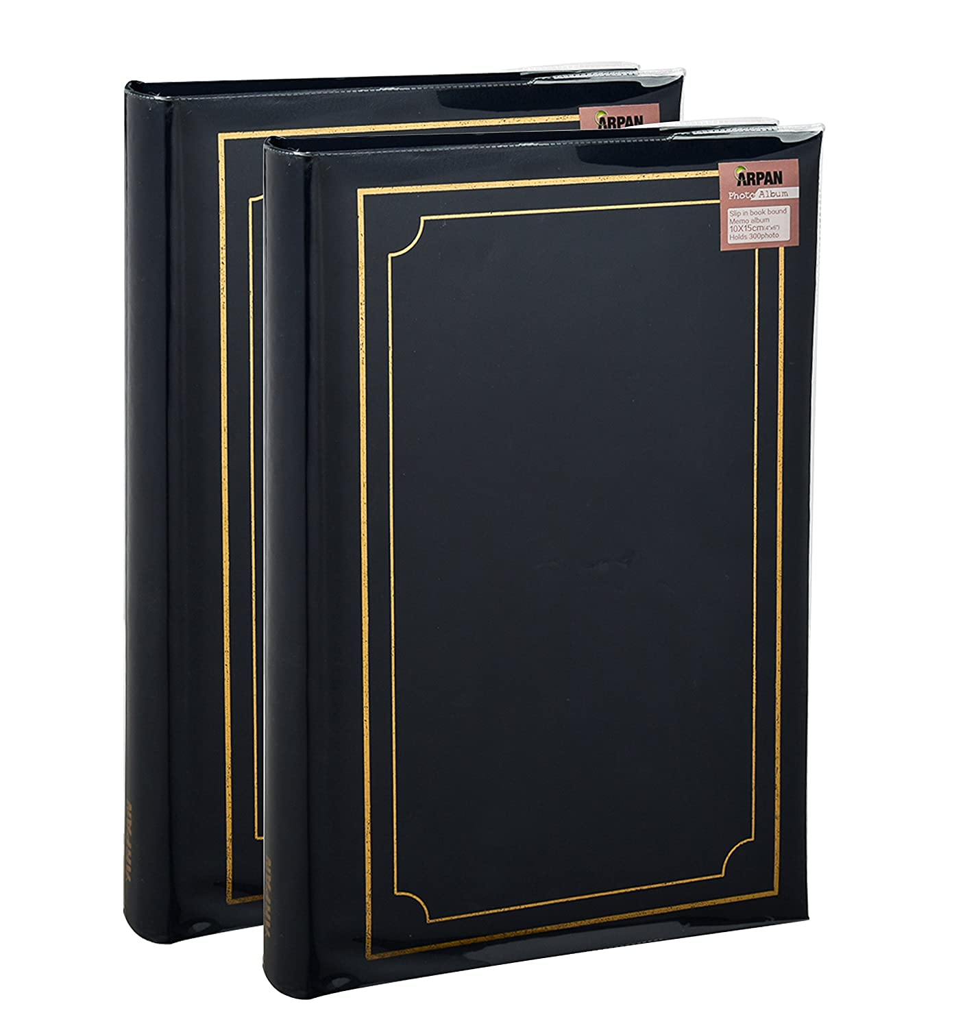 2 x Photo album Memo Slip In Case Photo Album For 300 x 4 x 6 Inch / 10x15 cm Photos by Arpan (Blue)