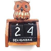 HC enterprise Bloque de Calendario perpetuo de Madera
