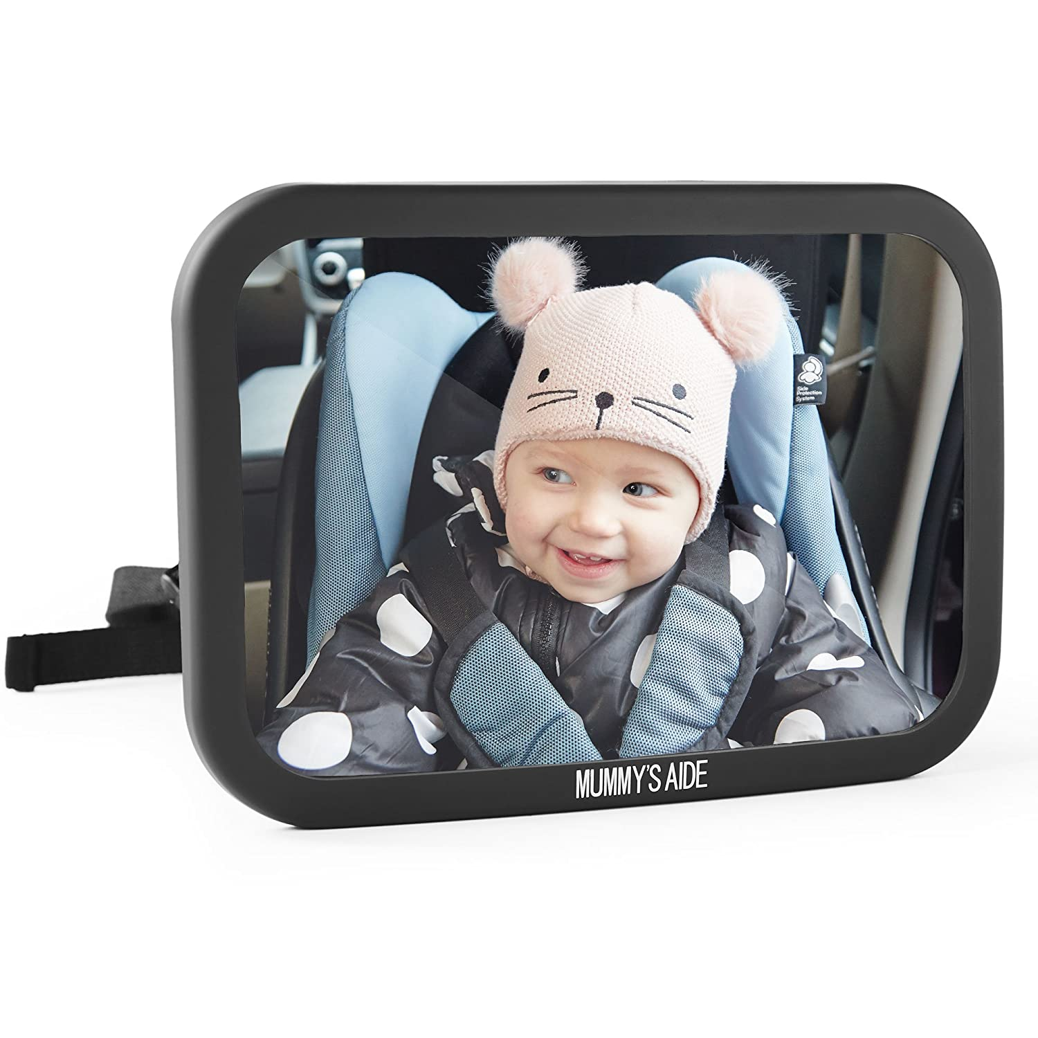 Baby Car Mirror/Baby Backseat Mirror for Car/Adjustable Safety Mirror - Clear Rear View Mummy's Aide YBD170811
