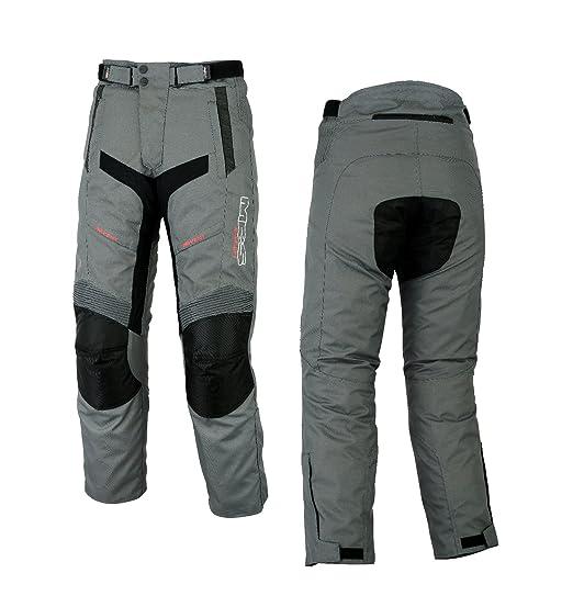 Pantalón para motorista MBSmoto MP-51, impermeable, resistente al viento, tejido Cordura, talla grande, color antracita