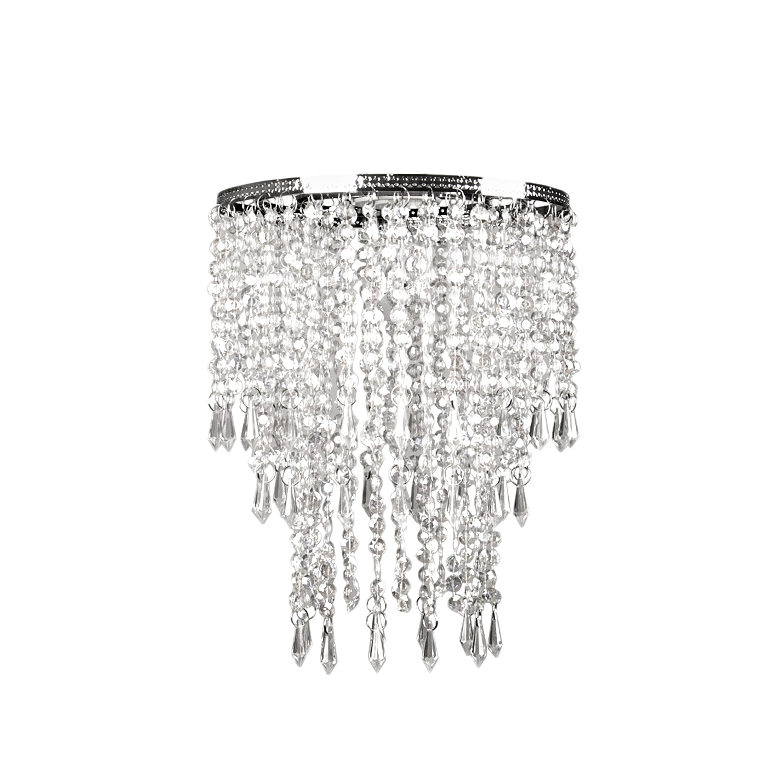 Tadpoles Faux Crystal Triple Layer Dangling Shade, Chandelier Style
