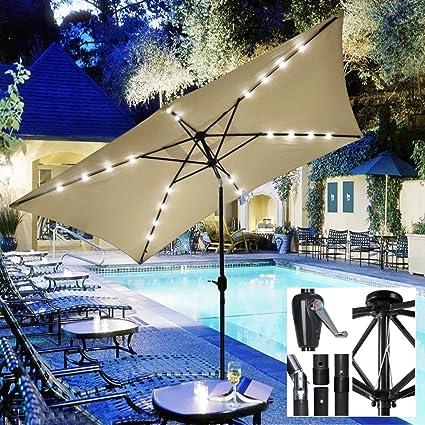 Koonlert@shop New UV Blocking 10u0027 X 6.5u0027 Rectangle Umbrella Patio Outdoor  Bistro