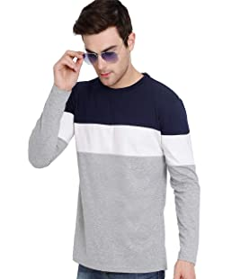 GUTSY Men's Cotton Full Sleeves T-Shirt (Multicolour, X-Large)