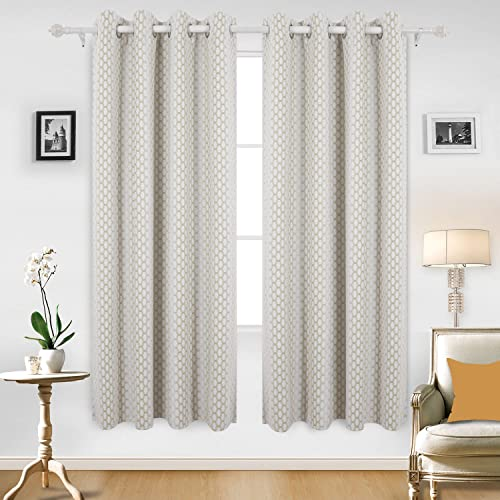 Deconovo Room Darkening Gradual Change Moroccan Print Thermal Insulated Panel Blackout Curtain