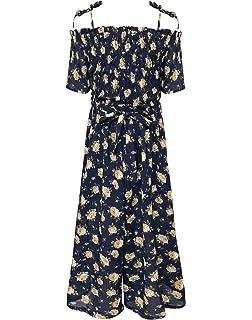 67810fb0152 Amazon.com  BNY Corner Little Girls Off Shoulder High Low Maxi Skirt ...