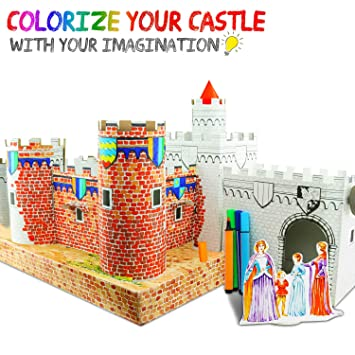 Buy UC Global Trade Inc 3D Puzzle Coloring Castle for Kids and ...