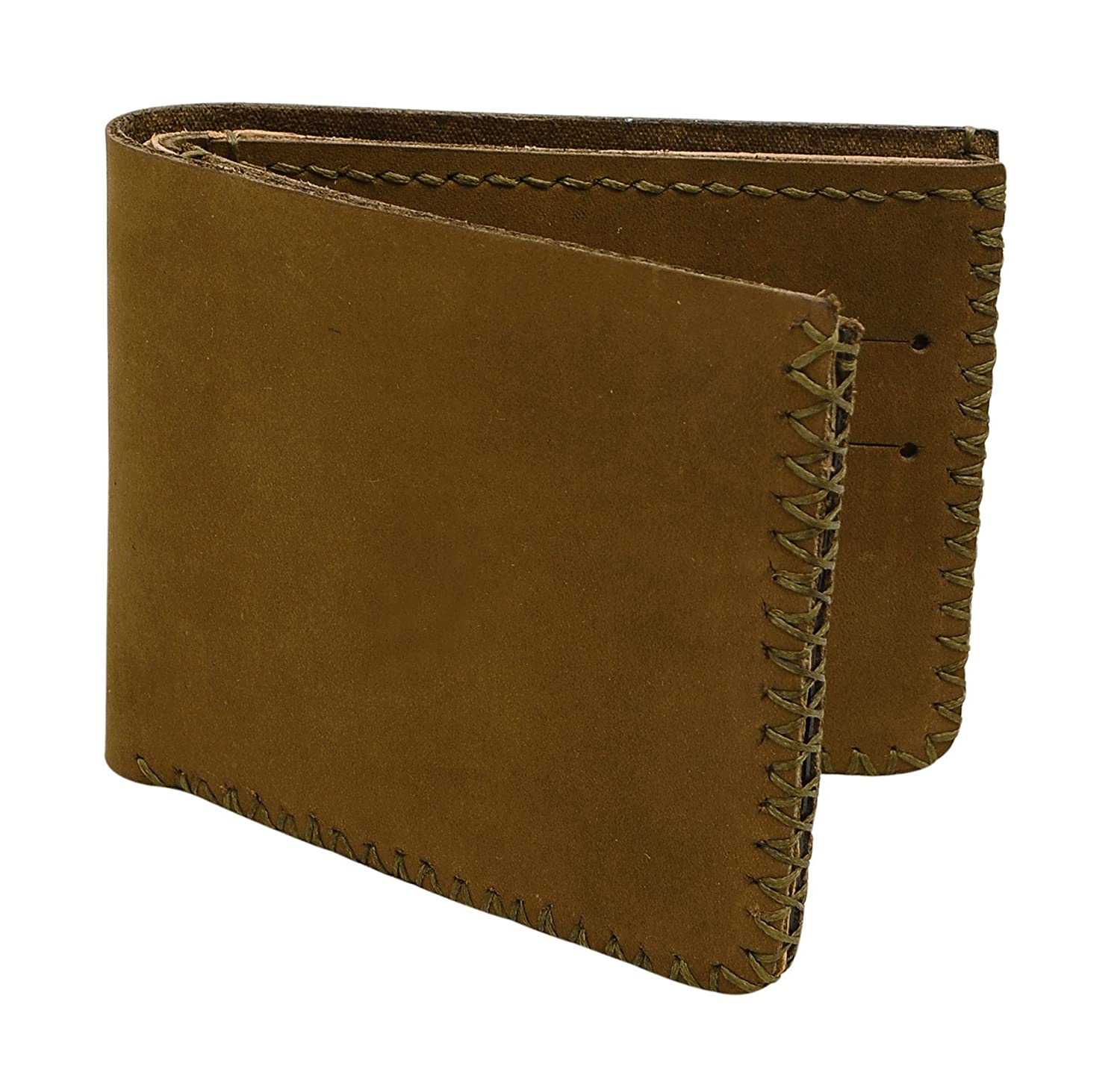 Mens Zebra Abstract -4 Handmade Natural Genuine Pull-up Leather Wallet at Amazon Mens Clothing store: