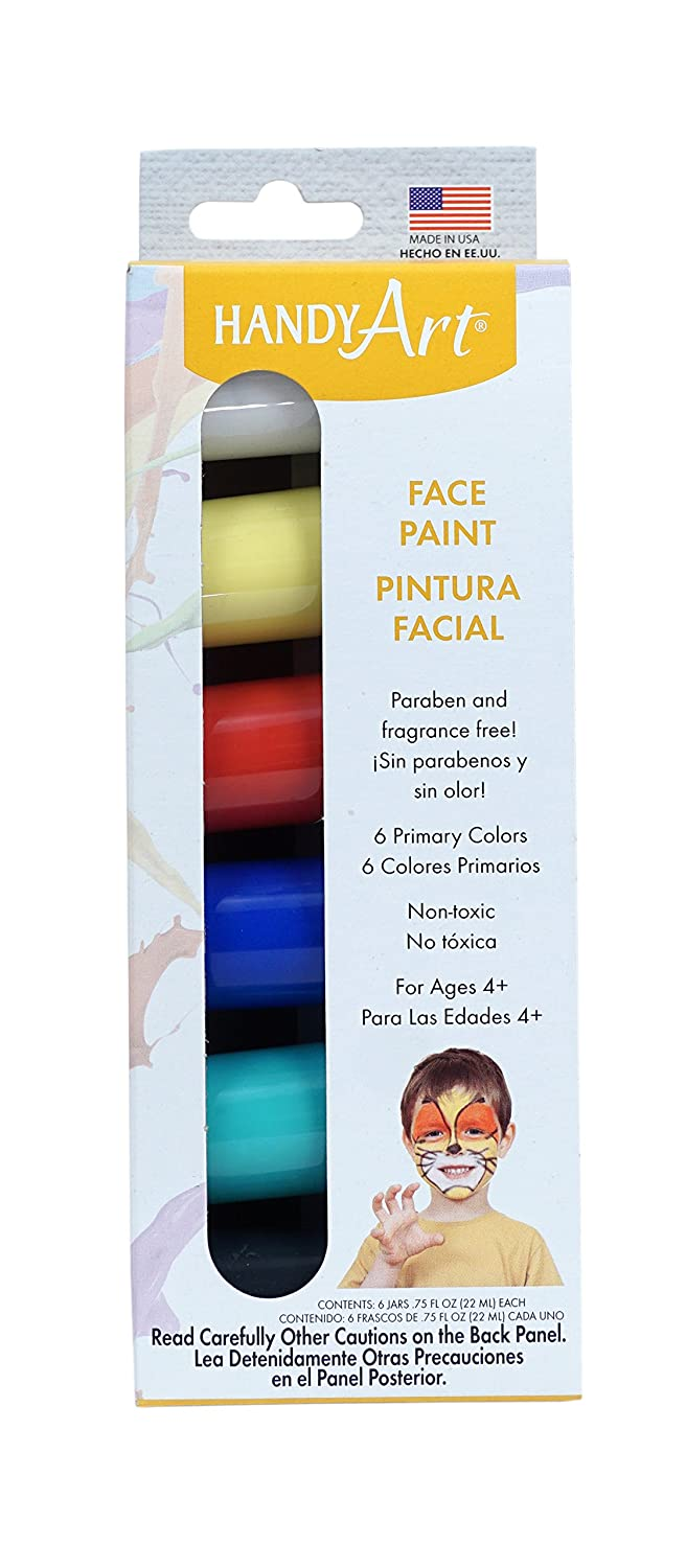Handy Art® 882-555 Primary Face Paint Kit, Assorted, 2-Ounce Inc.