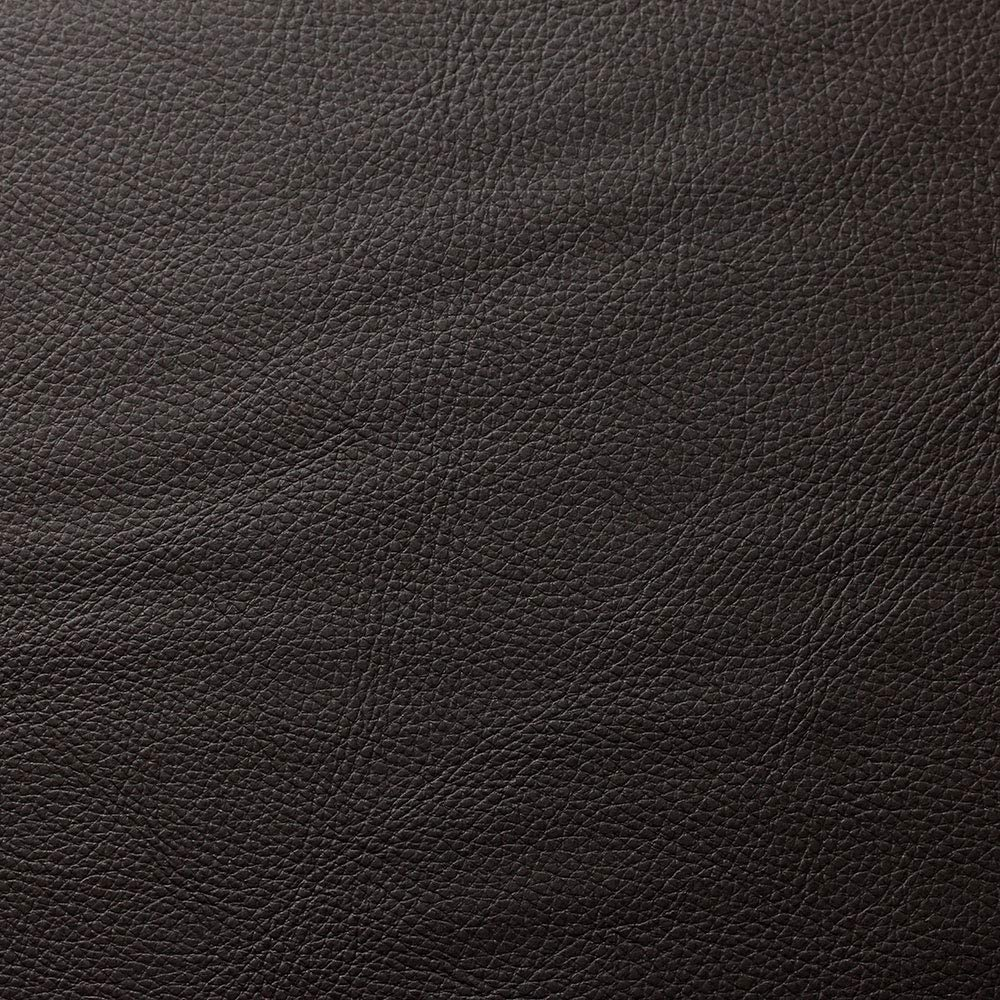 Leather Upholstery Home Fabric Textiles for Furniture, 100% PVC, with Velvet Backing (Dark Brown)