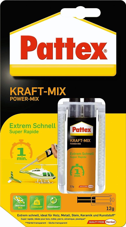 Pattex 1472473 Colle à deux composants Force Mix- extrêmement rapide, Noir/orange Henkel B004V4B6H2