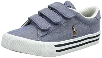 76cb0796a682 Ralph Lauren Easten EZ, Baskets garçon, Bleu (Blue Chambray 000), 28 ...