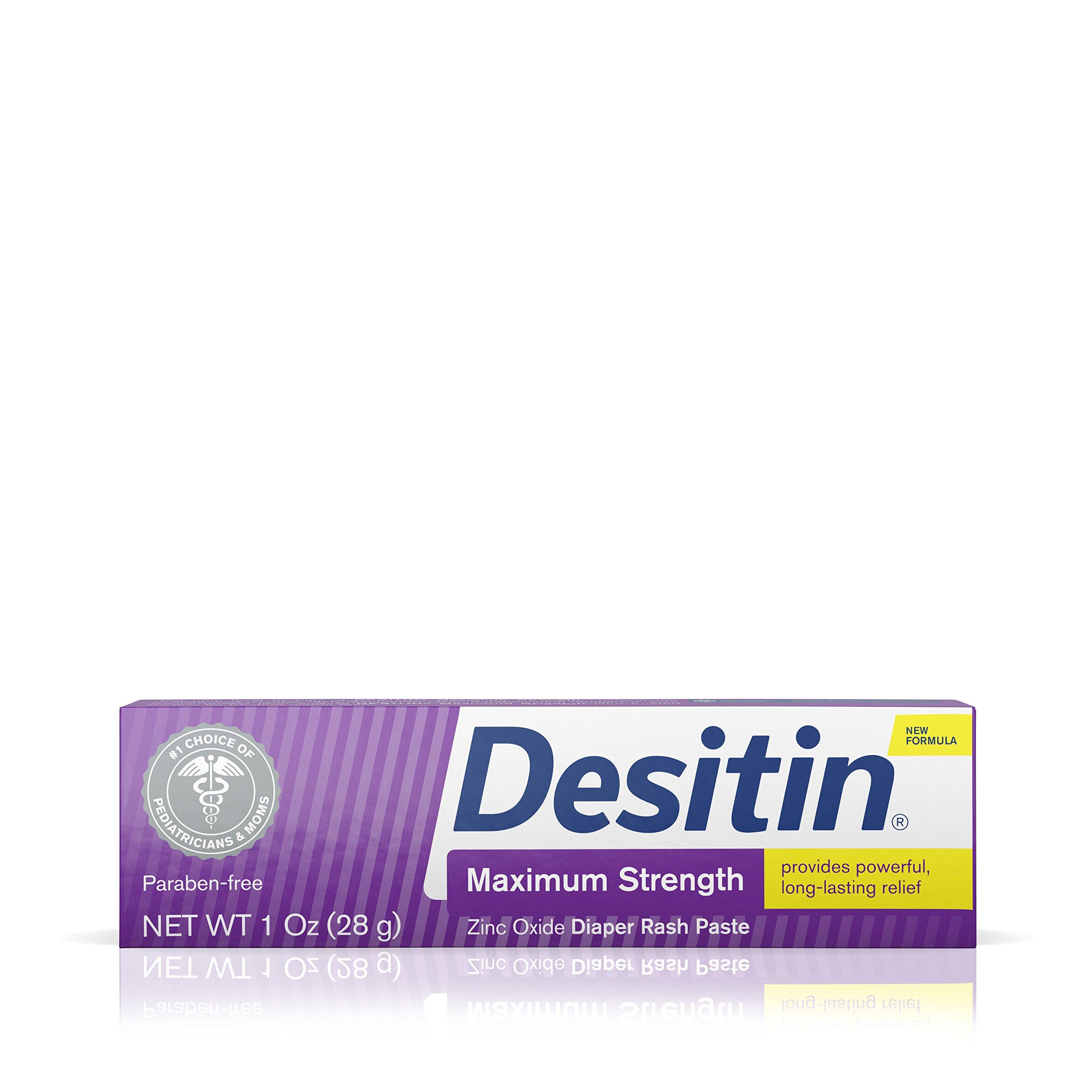 Desitin Diaper Rash Maximum Strength Original Paste, Travel Size, 1 Oz. Tube (Pack of 6) by Desitin (Image #1)