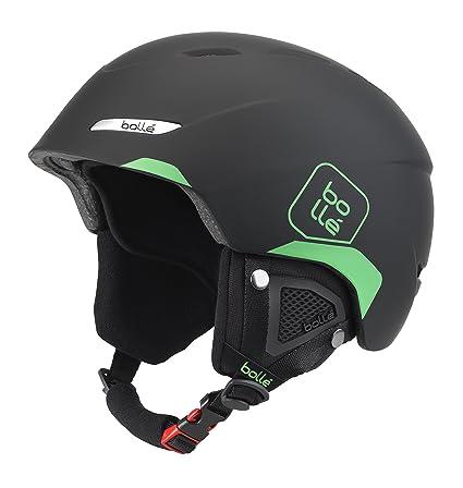 Bollé Byond Cascos de ski, Unisex Adulto, Soft Black/Green, 54-