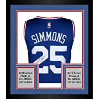 $879 » Framed Ben Simmons Philadelphia 76ers Autographed Away Jersey - Upper Deck - Fanatics Authentic Certified