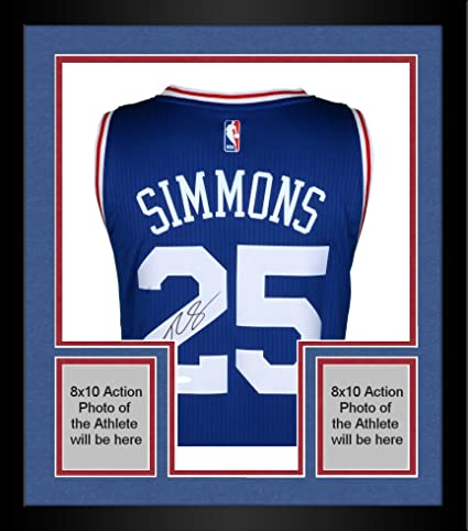 on sale ada9d 103c9 Framed Ben Simmons Philadelphia 76ers Autographed Away ...