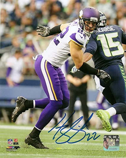 a3e46e8891b Harrison Smith Minnesota Vikings Autographed Signed 8 x 10 Photo COA Pose    4