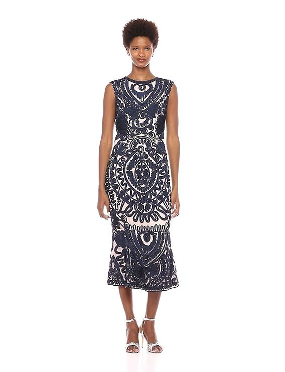 7459063458 Amazon.com  JS Collection Women s Sleeveless Soutache Dress  Clothing