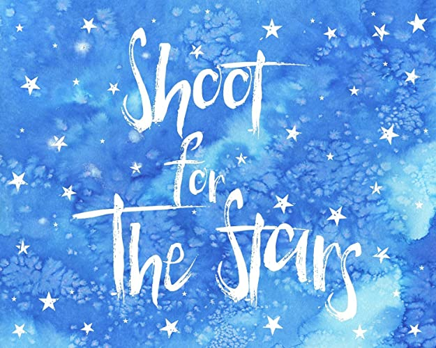 Amazoncom Shoot For The Stars Art Print Nursery Art Print