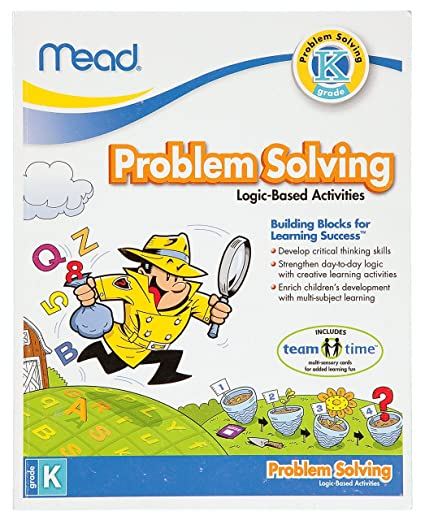 Amazon.com : Mead Kindergarten Problem Solving Workbook, 10 x 8 ...
