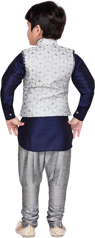 AJ Dezines Kids Indian Wear Bollywood Style Kurta Pyjama Waistcoat for Boys