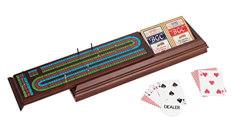 Amazon Com Royal Cribbage Board With Cards Pegs And Dealer Button