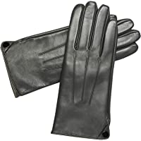 Womens Winter Genuine Leather Gloves - Acdyion Touchscreen Windproof Driving Gloves With Cashmere Lining