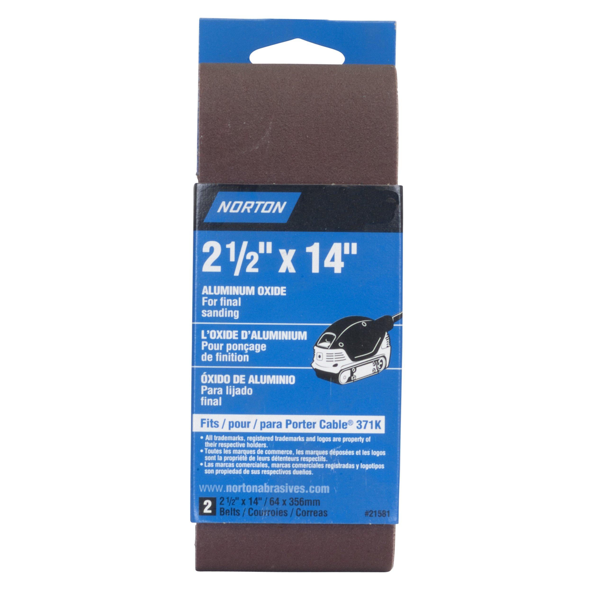 Norton 3'' x 18'' Aluminum Oxide Sanding Belt, 120 Grit, 2 pack