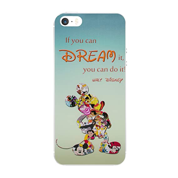 pretty nice 55387 f3033 iPhone 5/5s Disney Quote Silicone Phone Case/Gel Cover for Apple iPhone 5s  5 SE/Screen Protector & Cloth/iCHOOSE/Dream
