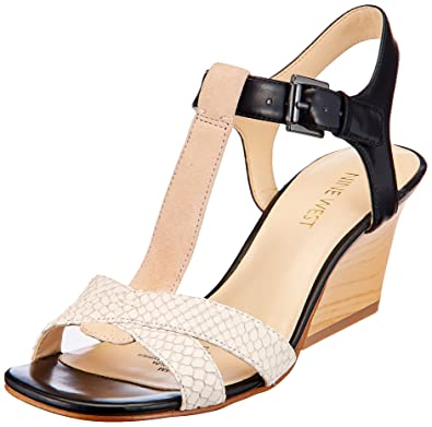 Nine West Women's Geralda Off-White Multi Sandal