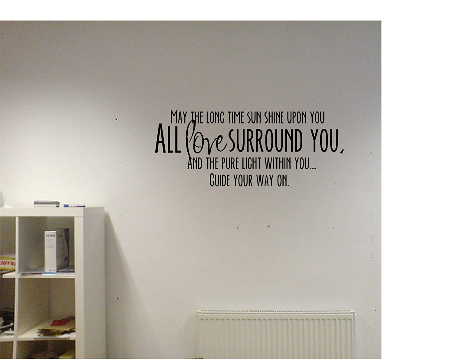 ... Shine Upon You All Love Surround You, And The Pure Light Within You...  Guide Your Way On Inspirational Vinyl Wall Quotes Decals Sayings Art  Lettering: ... Part 85