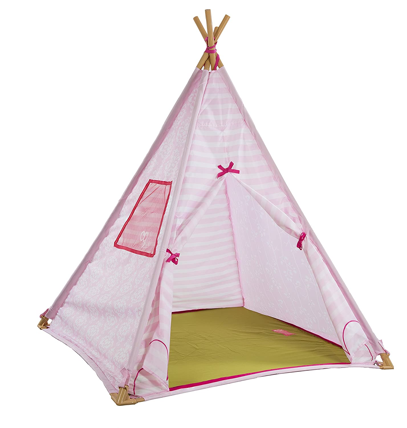 Amazon.com Our Generation Suite Teepee u2013 Pink Polyester u2013 Indoor u2013 Night-light Included u2013 For Children and 18 Inch Dolls Toys u0026 Games  sc 1 st  Amazon.com & Amazon.com: Our Generation Suite Teepee u2013 Pink Polyester u2013 Indoor ...