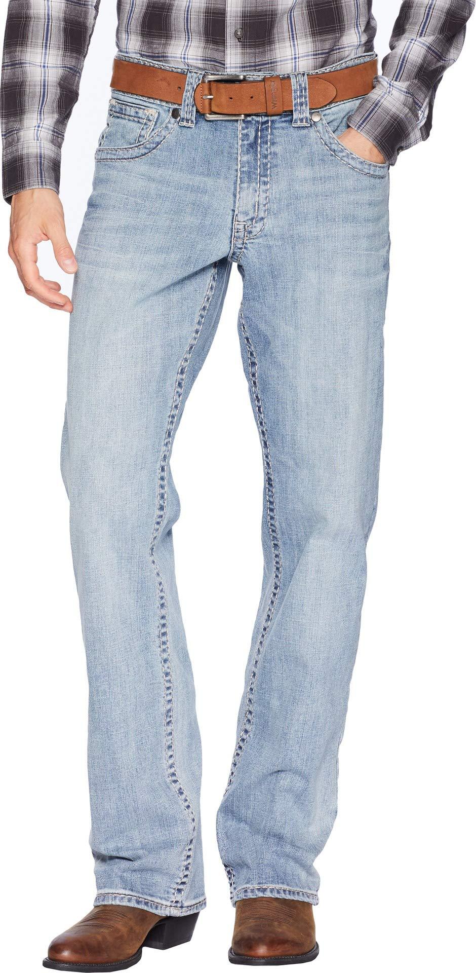Wrangler Men's Rock 47 Relaxed Boot Jeans Back Beat 40 36
