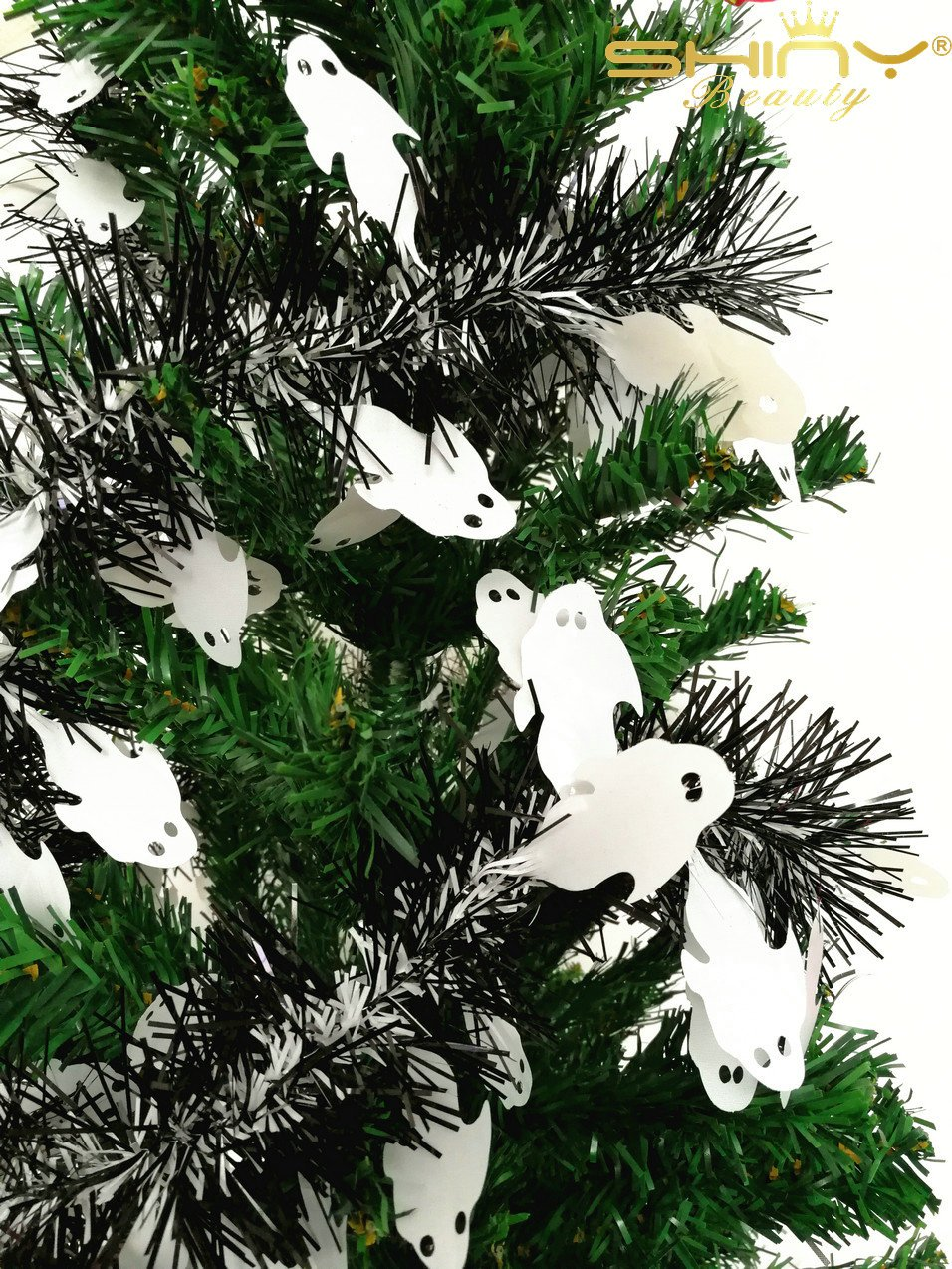 7 Pieces Tinse Garland For Halloween Tree or Door Windows Decoration, Shinny Party Accessory TG004