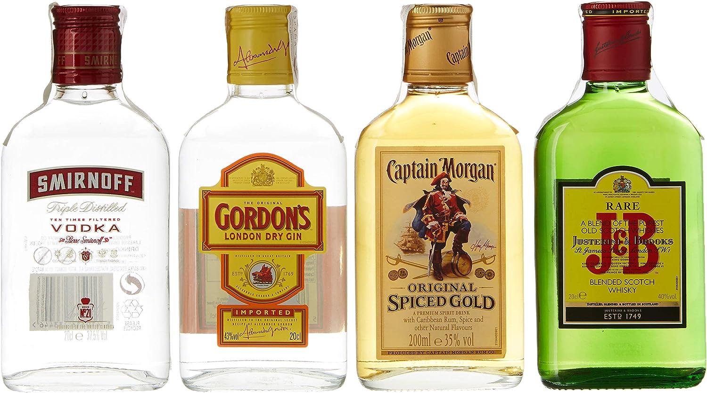 Diageo Kit de Fiesta con J&B Rare, Gordon Dry Gin, Smirnoff ...