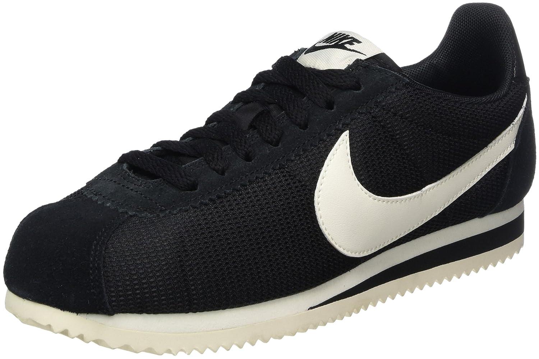 Nike Classic Cortez, Zapatillas de Gimnasia para Mujer 38.5 EU|Negro (Black/Sail)