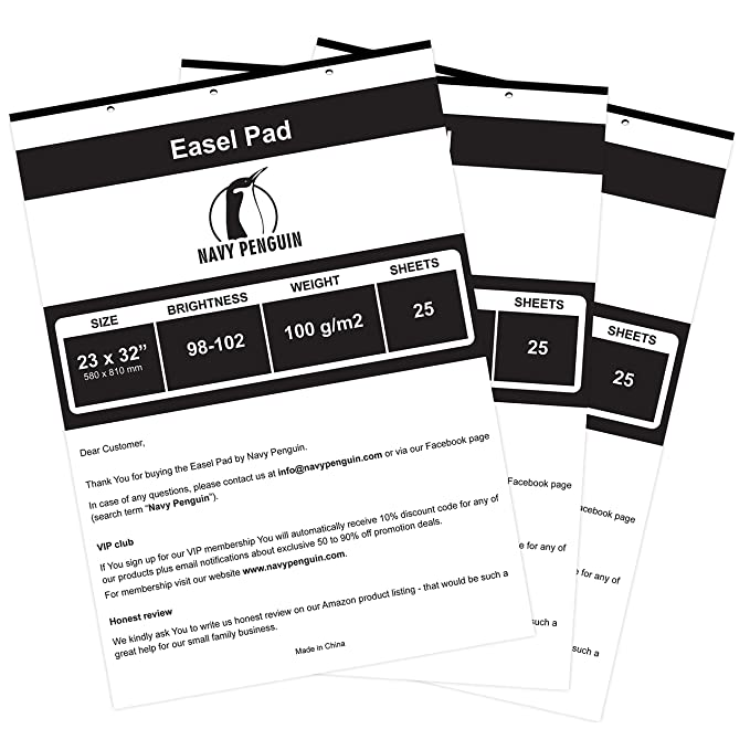 Amazon.com: Easel Pad 3 Pack: Office Products