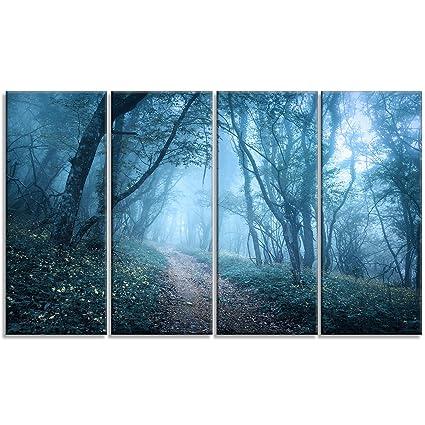 Amazon.com: Designart MT9824-271 Landscape Horizontal Metal Wall Art ...
