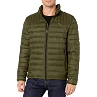 DKNY Men's Water Resistant Ultra Loft Quilted Packable Puffer Jacket